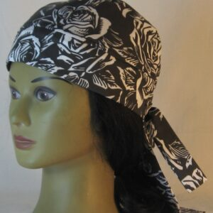 Do Rag in White Roses on Black - left