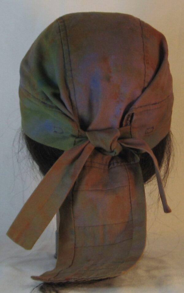 Do Rag in Purple with Green Orange Yellow Blue Splotchy Dye - back