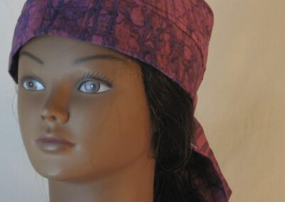 Do Rag in Purple Line on Drop Immersion Dyed - front