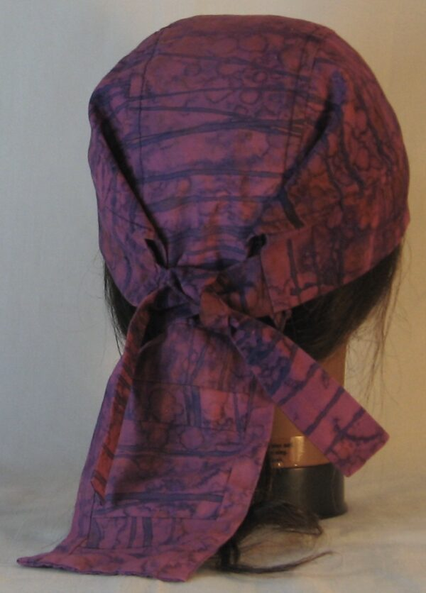Do Rag in Purple Line on Drop Immersion Dyed - back