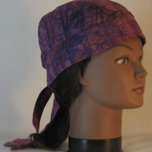 Do Rag in Purple Line on Drop Immersion Dyed - right