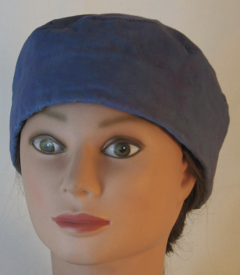 Skull Cap in Light Blue Purple Dyed - front
