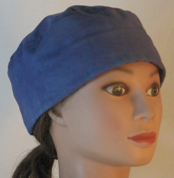 Skull Cap in Light Blue Purple Dyed - front right