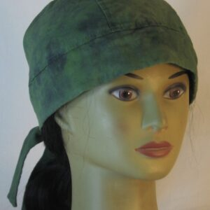Do Rag in Green with Black Splotchy Black Dye - front