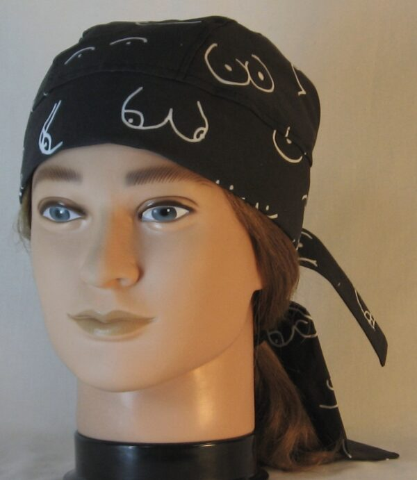 Do Rag in Doodled Boobs on Black in Life Cycle - front left