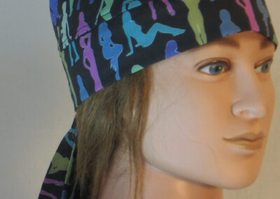 Do Rag in Femmes in Blue Pink Turquoise Green - right