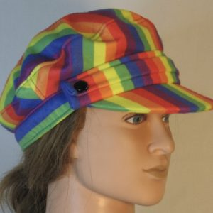Fisherman Cap in Rainbow Pride Stripe Flannel - right