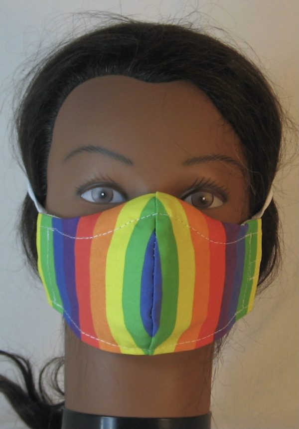 Face Mask in Rainbow Pride Stripe - front