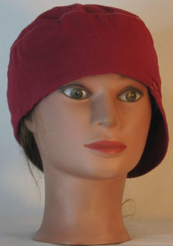 Welding Cap in Deep Raspberry Immersion Dyed - front alt
