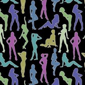 Femmes - Multicolores Rétro Small by thinlinetextiles