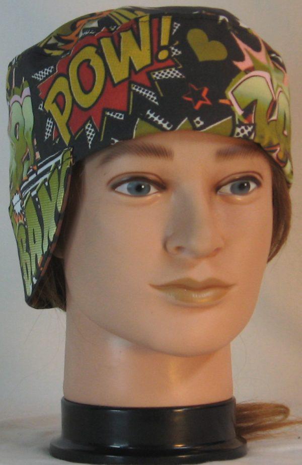 Welding Cap in Bang Pow in Green Orange Black - front