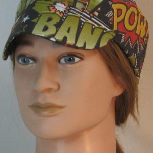 Welding Cap in Bang Pow in Green Orange Black - front alt