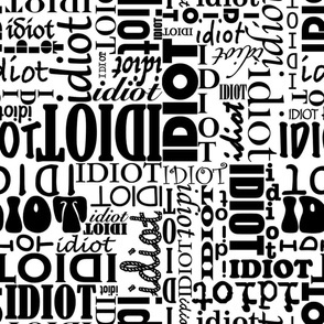 Idiot Repeat by four-letter_fabric