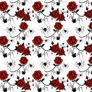 Small Black Widows and Roses by miss_fluff