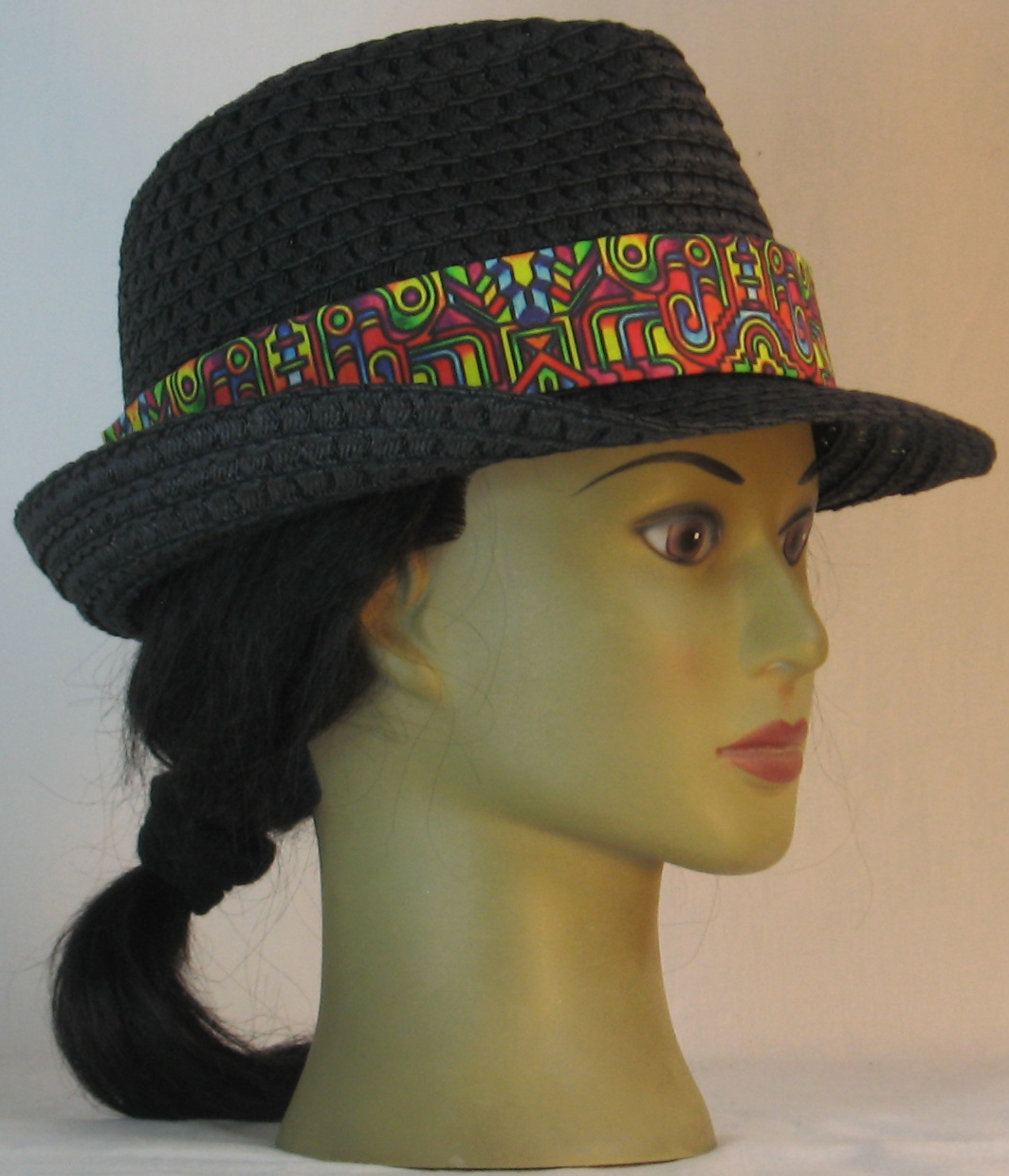 Fedora Hat Band in Bollard Post Curled Hook Pop Steampunk - right