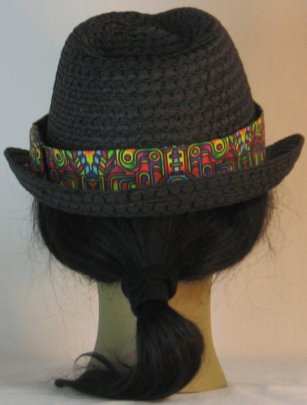 Fedora Hat Band in Bollard Post Curled Hook Pop Steampunk - back