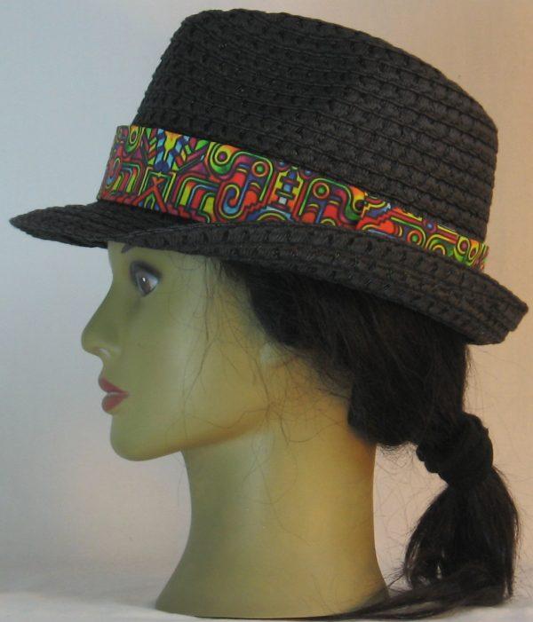 Fedora Hat Band in Bollard Post Curled Hook Pop Steampunk - left